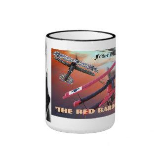 the red baron ringer coffee mug