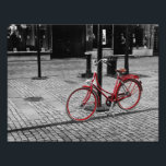 "The red bicycle photo print<br><div class=""desc"">A vintage red bicycle</div>"