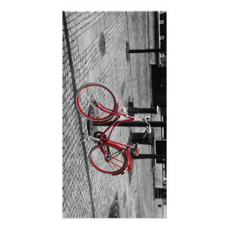 The red bicycle personalized photo card