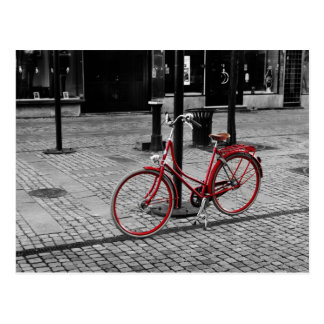 The red bicycle postcard