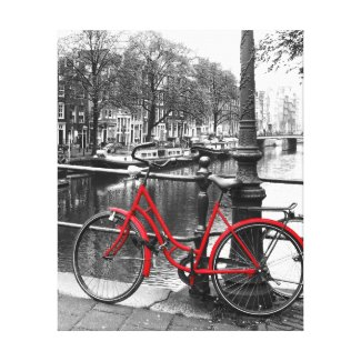 The Red Bike 1 Canvas Print