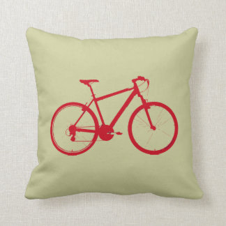 the red bike throw pillow