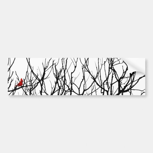 The Red Bird by Leslie Peppers Bumper Stickers