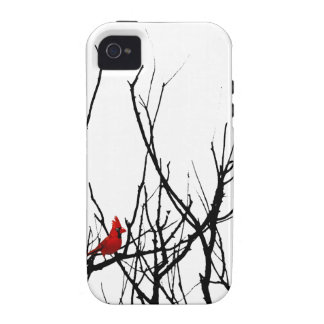 The Red Bird by Leslie Peppers Case-Mate iPhone 4 Covers