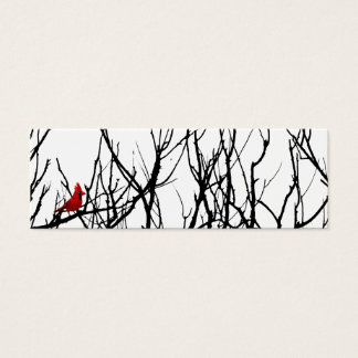 The Red Bird by Leslie Peppers Mini Business Card