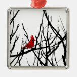 The Red Bird by Leslie Peppers Christmas Tree Ornament