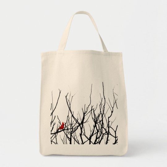 The Red Bird by Leslie Peppers Tote Bag