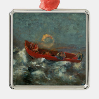The Red Boat, 1905 Metal Ornament