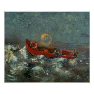 The Red Boat, 1905 Poster