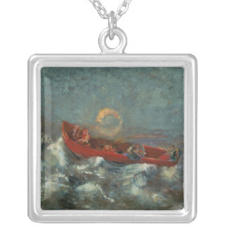 The Red Boat, 1905 Silver Plated Necklace