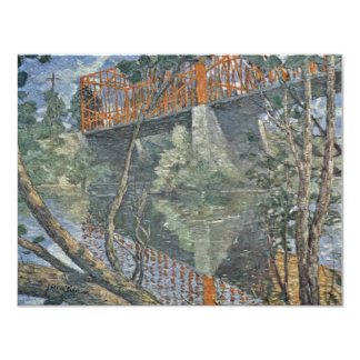 The Red Bridge By Weir Julian Alden (Best Quality) 4.25x5.5 Paper Invitation Card