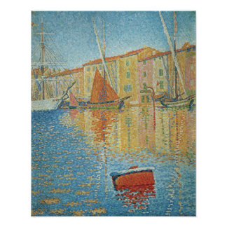 The Red Buoy by Paul Signac, Vintage Pointillism Poster
