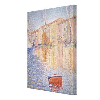 The Red Buoy, Saint Tropez, 1895 Canvas Print