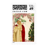 The Red Christmas Coat Postage Stamps