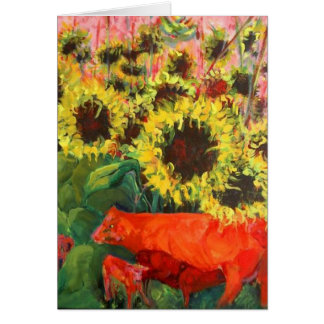 THE RED COWS STATIONERY NOTE CARD