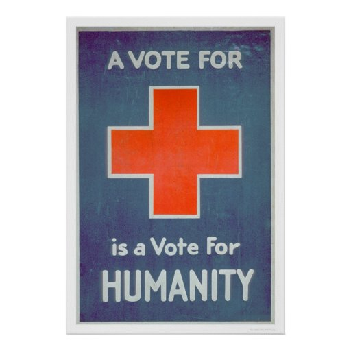 The Red Cross is a Vote for Humanity (US00102) Print