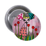 The Red Daffodils Empress Pinback Buttons