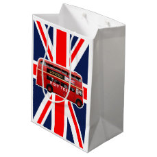The Red Double-Decker London Bus Medium Gift Bag