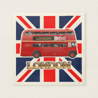 The Red Double-Decker London Bus Napkin