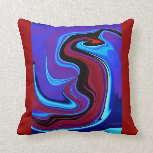 The Red Dragon Abstract Throw Pillow