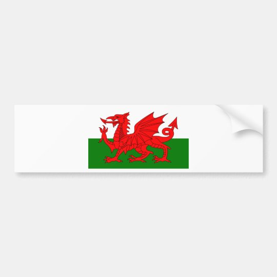 The Red Dragon [Flag of Wales] Bumper Sticker