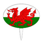 The Red Dragon [Flag of Wales] Cake Pick