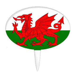The Red Dragon [Flag of Wales] Cake Toppers