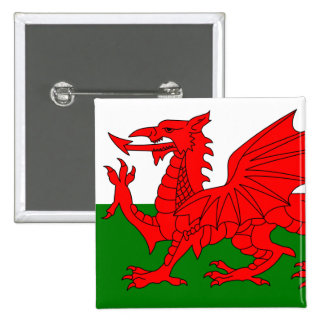 The Red Dragon [Flag of Wales] Pinback Button