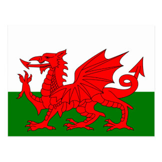 The Red Dragon [Flag of Wales] Postcard
