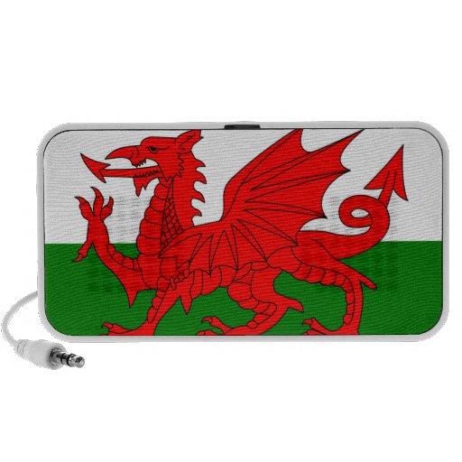 The Red Dragon [Flag of Wales] iPhone Speakers