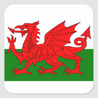 The Red Dragon [Flag of Wales] Square Sticker