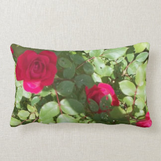The Red English Rose Pillow