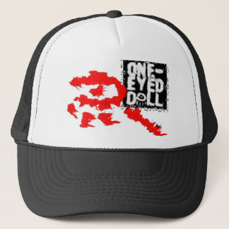 the red eye ONE-EYED DOLL Trucker Hat