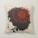 The Red Flower2 Throw Pillow