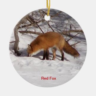 The Red Fox Ceramic Ornament