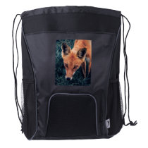 The Red Fox Drawstring Backpack