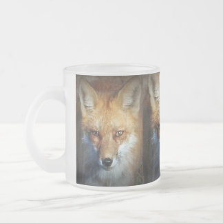 The Red Fox Gifts & Greetings Frosted Glass Coffee Mug