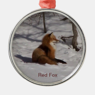The Red Fox Metal Ornament