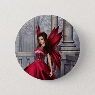 The Red Glamour Fairy Button