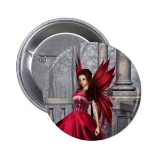 The Red Glamour Fairy Pinback Buttons