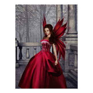 The Red Glamour Fairy Poster