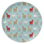 The Red Goat Dinner Plates