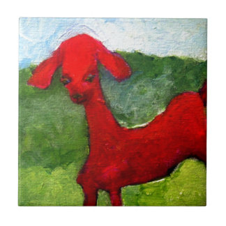 the red goat tile
