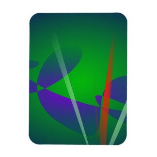 The Red Grass Rectangular Photo Magnet
