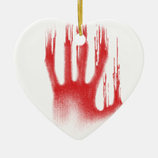 The Red Hand Ceramic Ornament