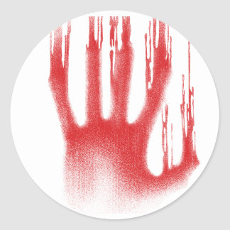 The Red Hand Classic Round Sticker