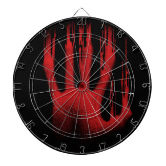 The Red Hand Dartboard With Darts
