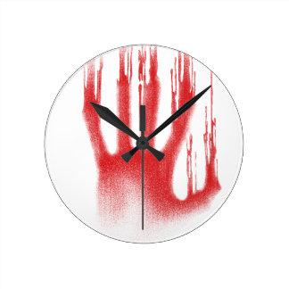 The Red Hand Round Clock