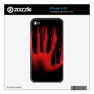 The Red Hand Skin For The iPhone 4S
