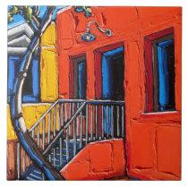 "The ""Red Harmony, Tucson Barrio"" tile"